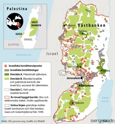 Karta över Palestina