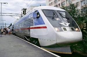 Ett gammalt snabbtåg X2000