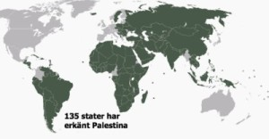 Stater som erkänt Palestina