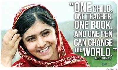 Fredspristagaren Malala Yousafzai