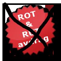 Slopa ROT och RUT bidragen