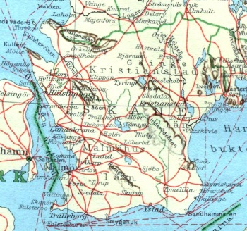 Det skånska järnvägsnätet 1930