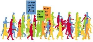 Demonstrera på 1 maj