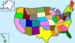 USA:s karta