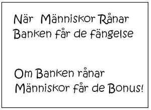 Bankernas motto