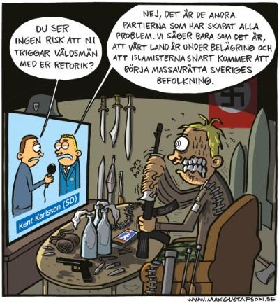 Sverigedemokrater funderar enligt Max Gustafsson