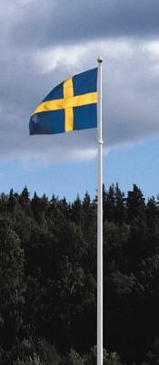 sverigeflaggstang